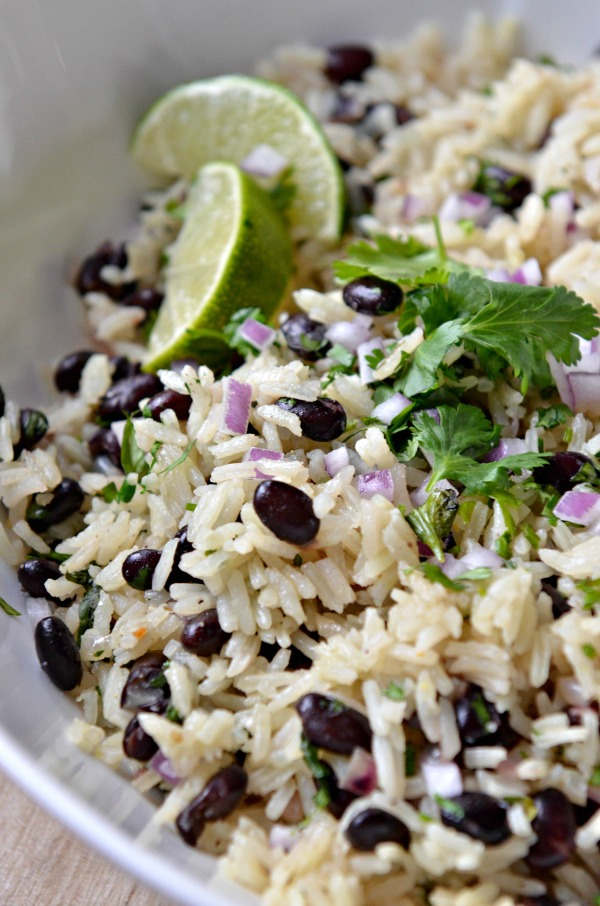 One Pot Black Bean Cilantro Lime Rice | mountainmamacooks.com