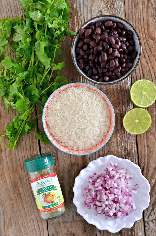 One Pot Black Bean Cilantro Lime Rice | mountainmamacooks.com