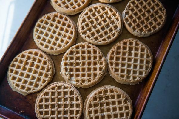 Sausage and Waffle Breakfast Casserole   www.mountainmamacooks.com