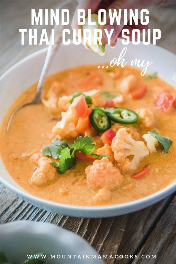Thai Curry Veggie Soup | mountainmamacooks.com
