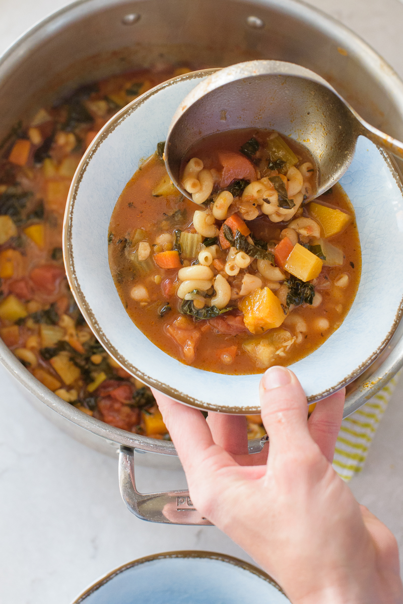 Lentil Minestrone | www.mountainmamacooks.com