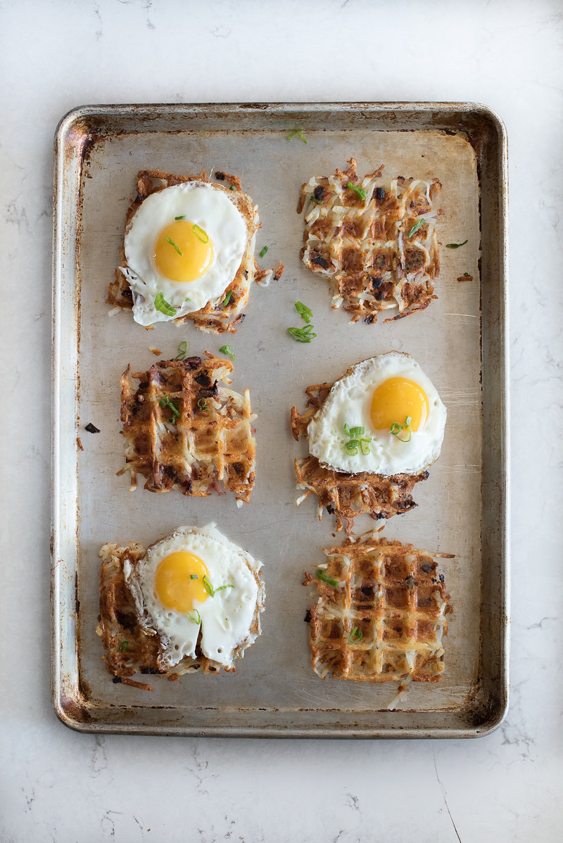 Ham and Cheese Hash Brown Waffles | www.mountainmamacooks.com