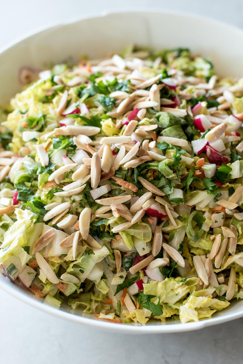 Crunchy Napa Slaw | www.mountainmamacooks.com