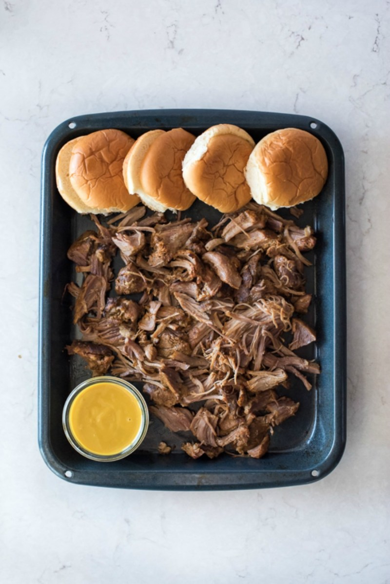 Instant Pot Honey Mustard Pulled Pork | www.mountainmamacooks.com
