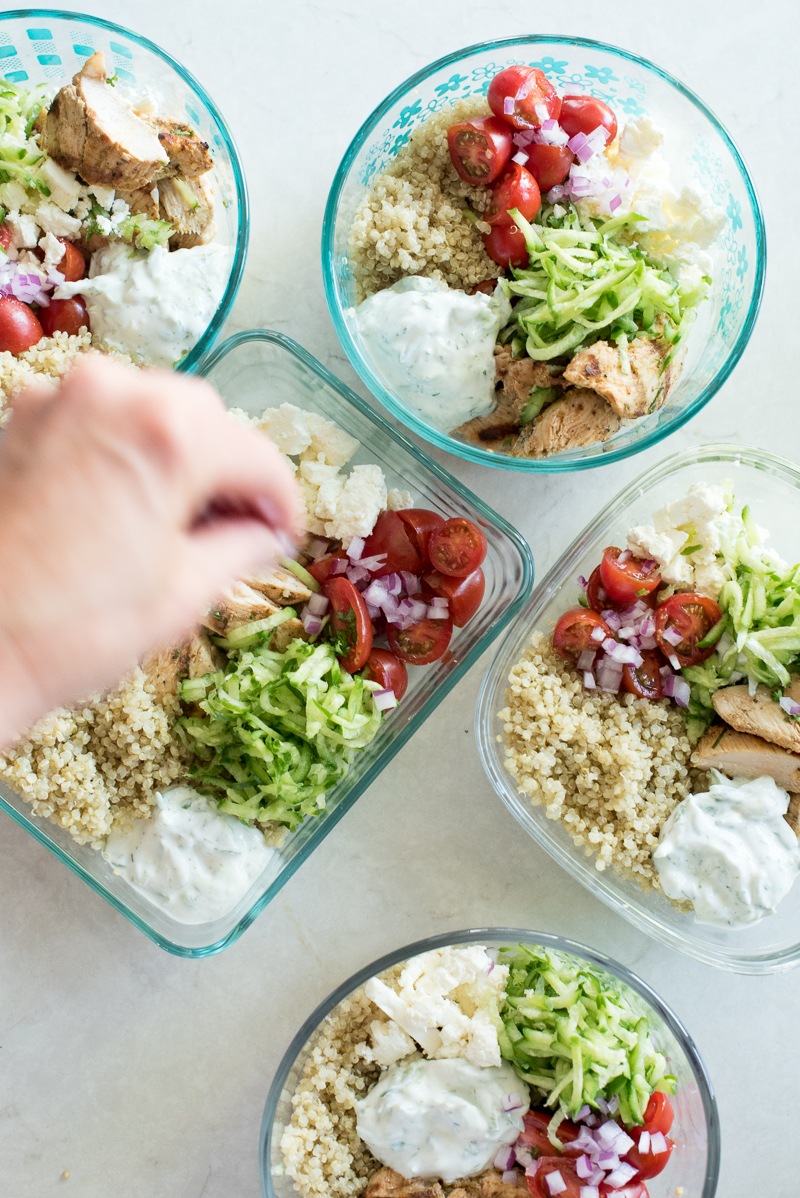 Greek Chicken Meal Prep Bowls | www.mountainmamacooks.com