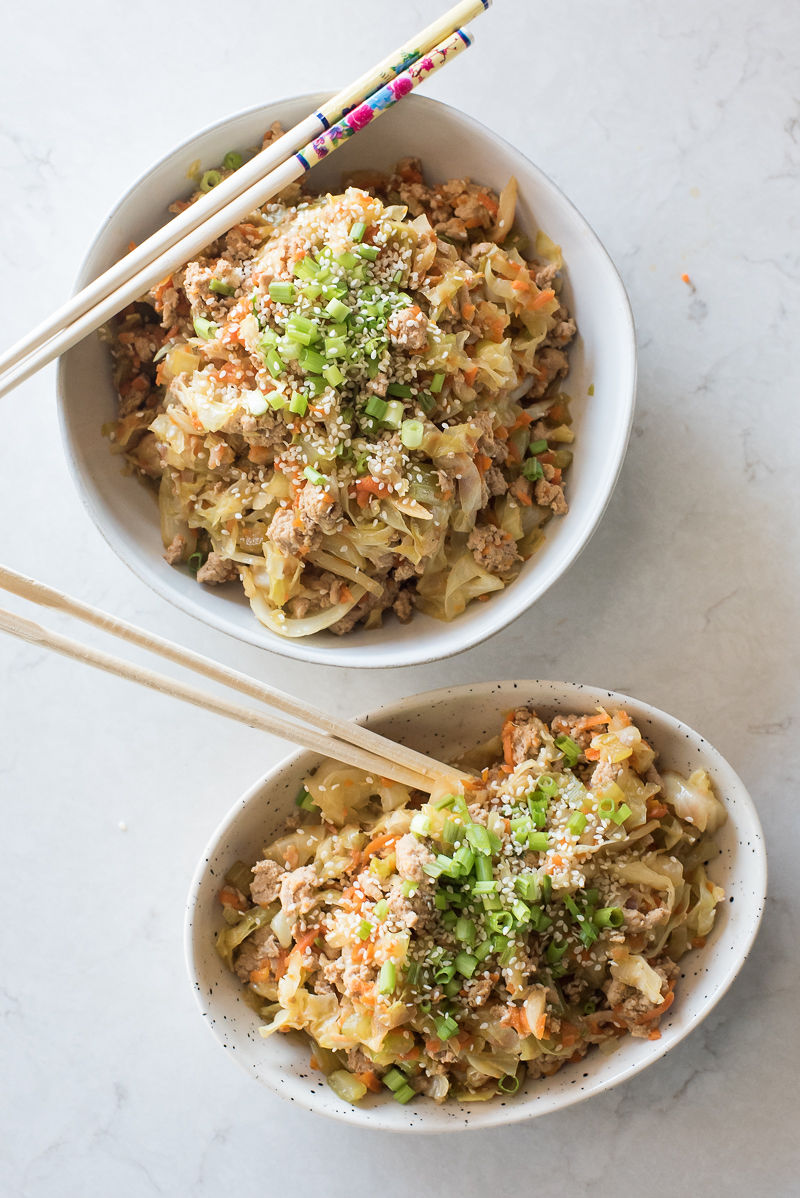 Instant Pot Egg Roll in a Bowl | www.mountainmamacooks.com