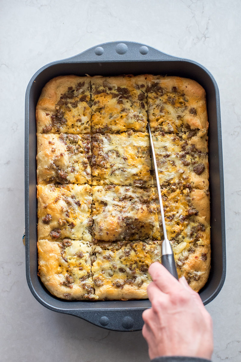Sausage Crescent Roll Breakfast Casseroles |  www.mountainmamacooks.com