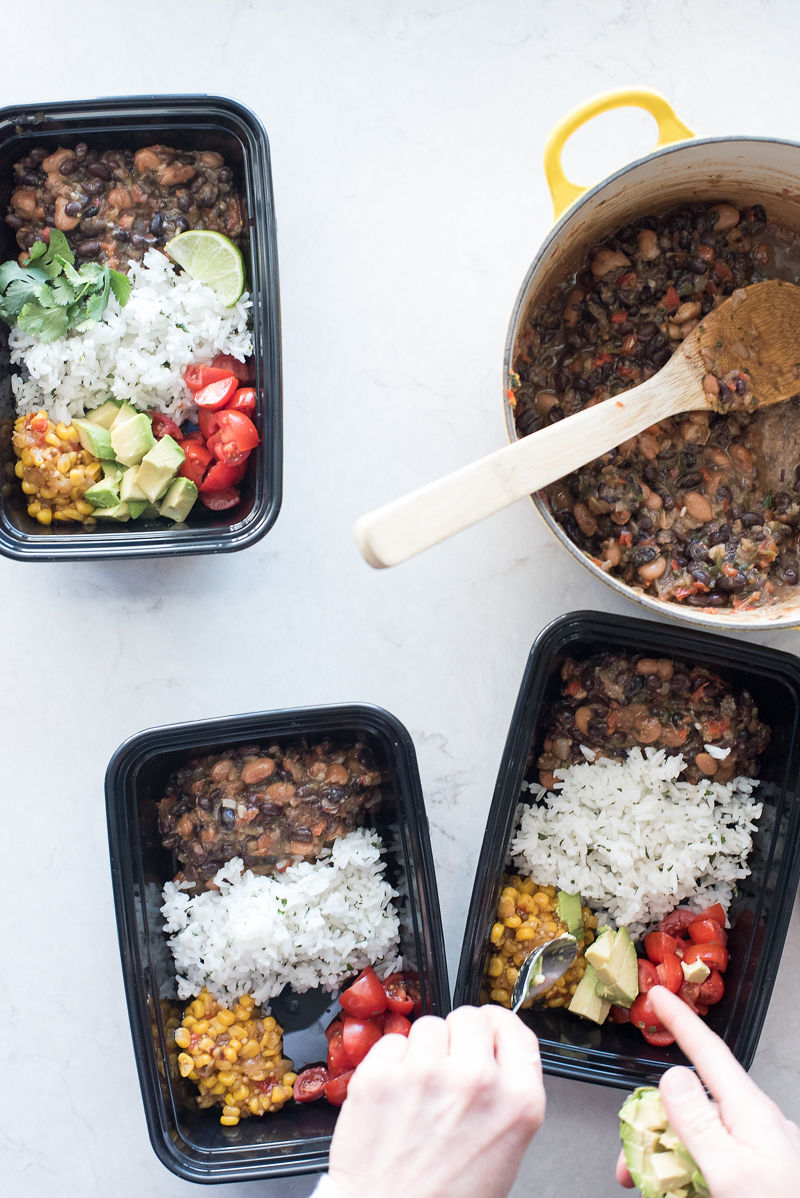 Rice and Beans Meal Prep | www.mountainmamacooks.com
