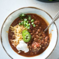 Classic Beef Chili made in the slow cooker for a super easy chili recipe. www.mountainmamacooks.com