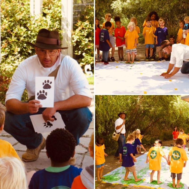 children learning wilderness skills and safety in a fun environment