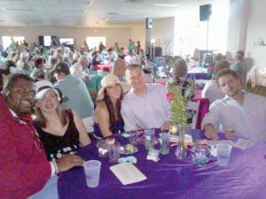 """Hundreds gathered at the Cecil H. Underwood building on the State Fairgrounds on May 2 to watch and """"wager"""" on the Kentucky Derby at the Derby Days fundraiser hosted by Gateway Industries Inc."""