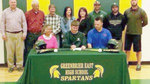 Ethan Boone signs on to play baseball for the Bluefield College Rams.
