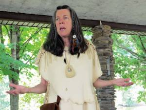 Mary Dailey portrays Sacagawea of the Lewis and Clark Expedition