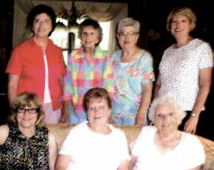 Progressive CEOS August 2015 meeting: Seated: Barbara Shiley (left), Faye Honaker and Colleen Walton; Standing: Linda Schmidt (left), June Foley, Kitty Loudermilk and Patty Gray