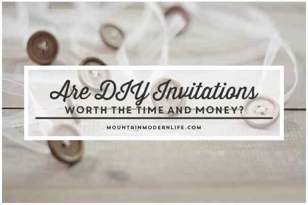 Cost Breakdown of DIY Invitations