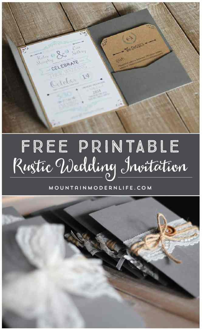 Free Vintage Wedding Invitation Templates Casadebormela Com Designs