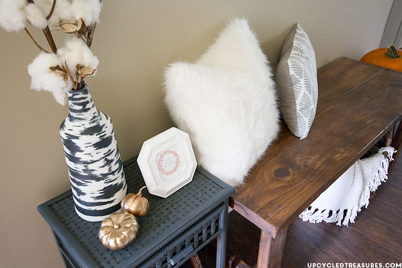 Rustic Woodland-Inspired Fall Home Tour   upcycledtreasures.com