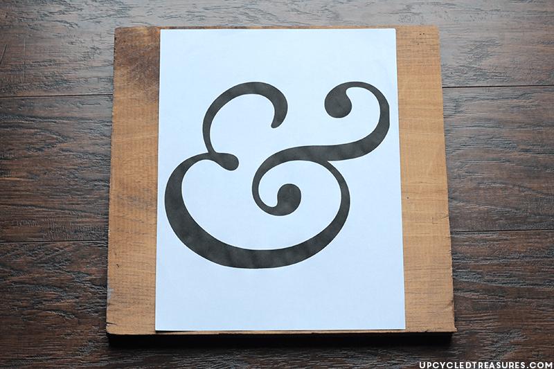Ampersand Wall Art diy ampersand wall art using thumbtacks | mountainmodernlife