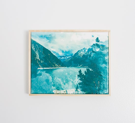 free printable watercolor mountain rustic art mountainmodernlife.com