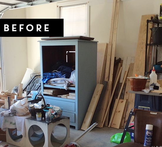 how to organize your garage before photo mountainmodernlife.com