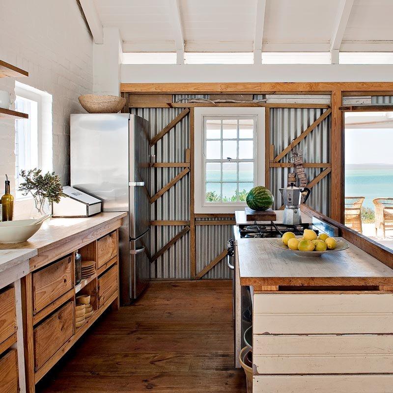 How To Design A Coastal Kitchen: Corrugated Metal In Interior Design