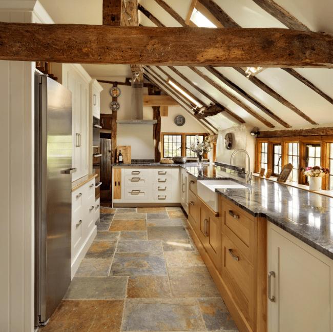 Stunning Kitchen Designs with 2-Toned Cabinets | Shaker Farmhoue Kitchen via Houzz from Harvey Jones Kitchens