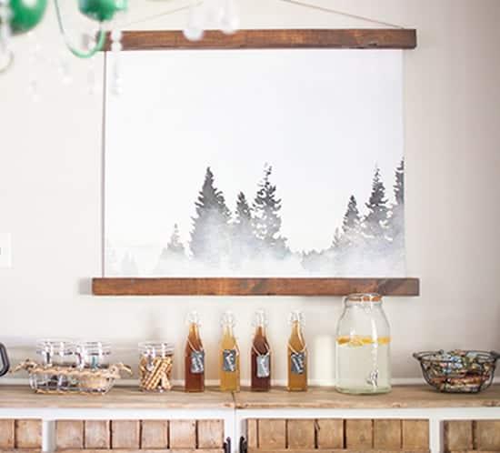 budget friendly wall art watercolor tahoe print mountainmodernlife.com