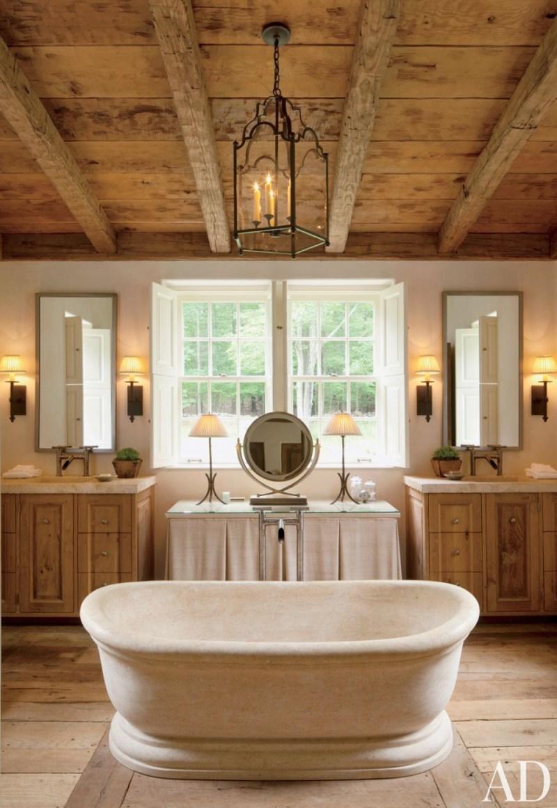 Rustic Modern Bathroom Designs | MountainModernLife.com