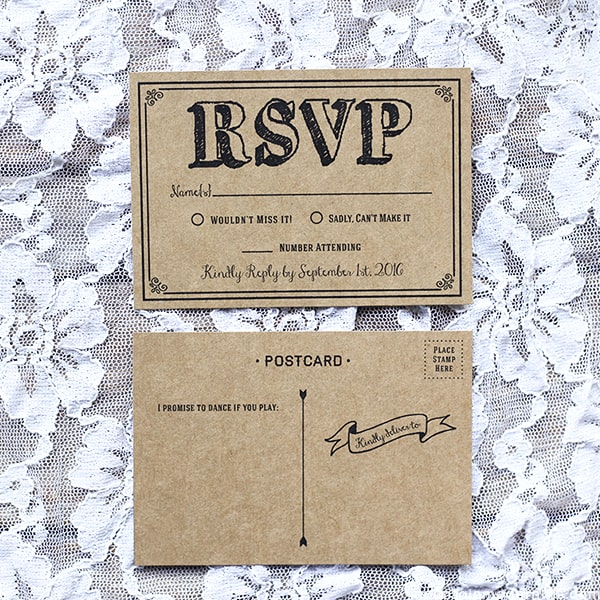 Diy Rsvp Wedding Cards Template Wedding Invitation Sample – Free Rsvp Card Template