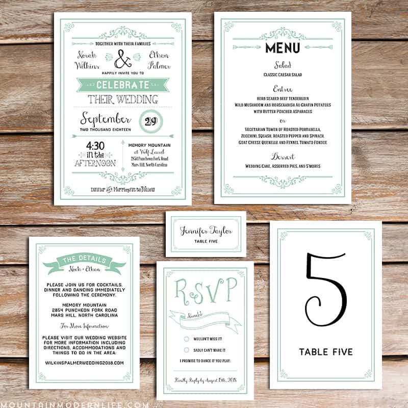 Diy Wedding Invitations Templates diy wedding invitation – Free Rustic Wedding Invitation Printables