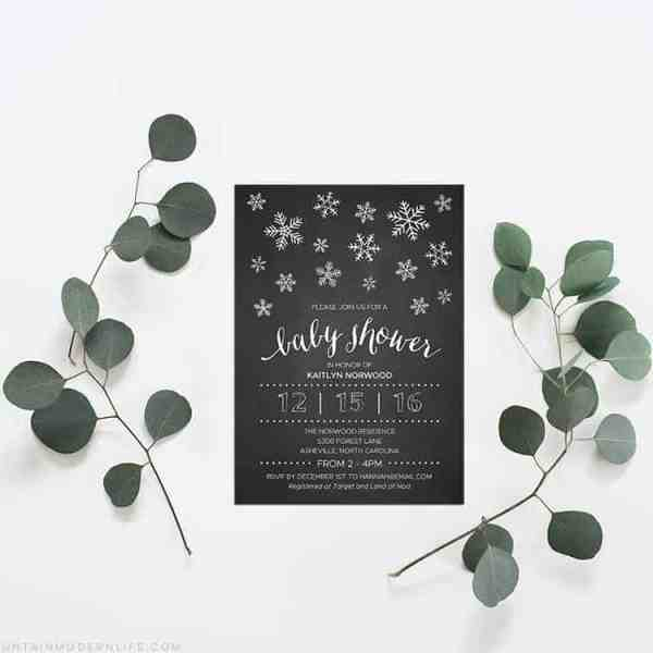 Printable DIY Baby Shower Template | MountainModernLife.com
