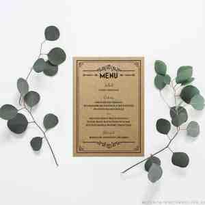 Printable Wedding Menu | MountainModernLife.com