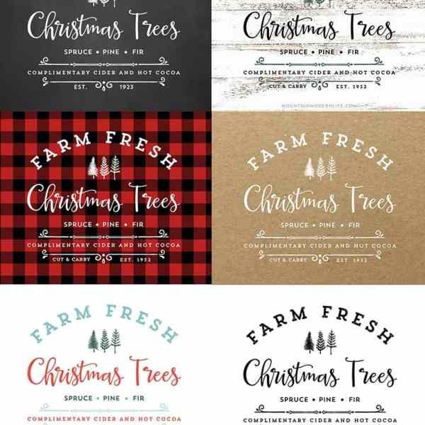 Farm Fresh Christmas Trees Printable   MountainModernLife.com