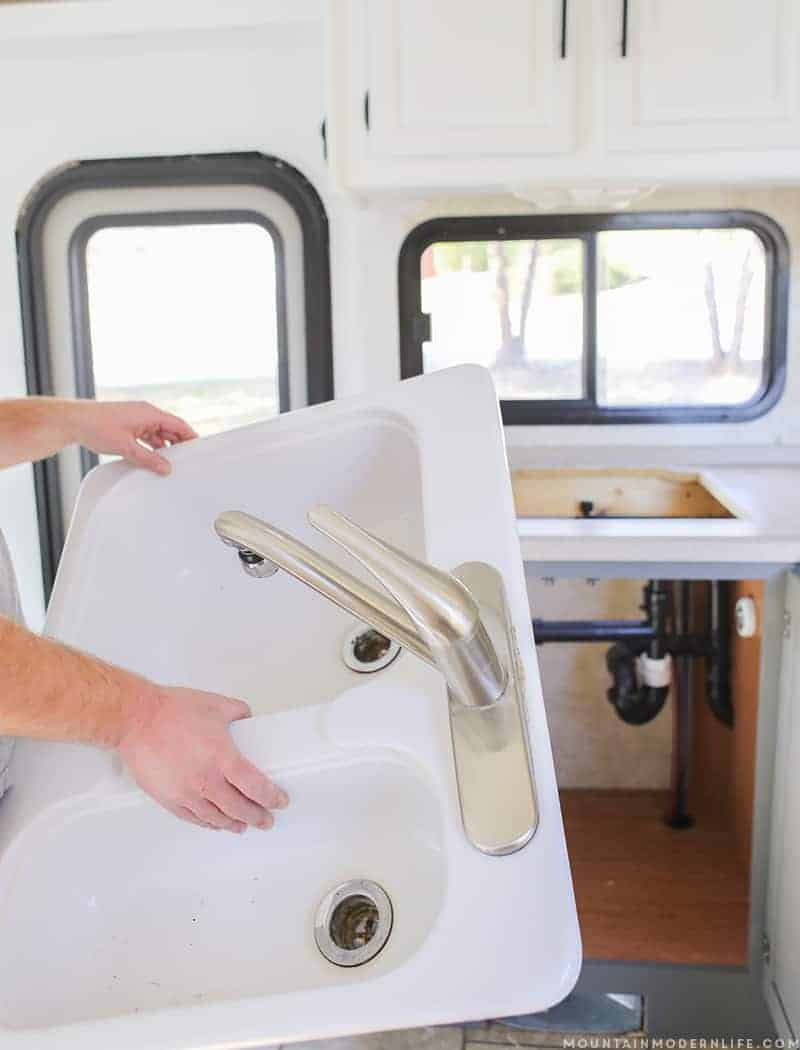 How To Remove Your Rv Kitchen Sink | Mountainmodernlife