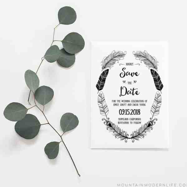 Rustic Boho Save the Date