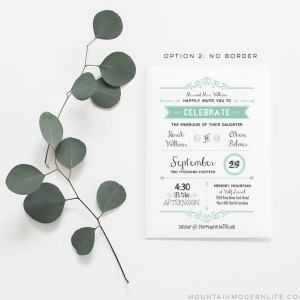 Printable Wedding Invite with Parent's Names | MountainModernLife.com