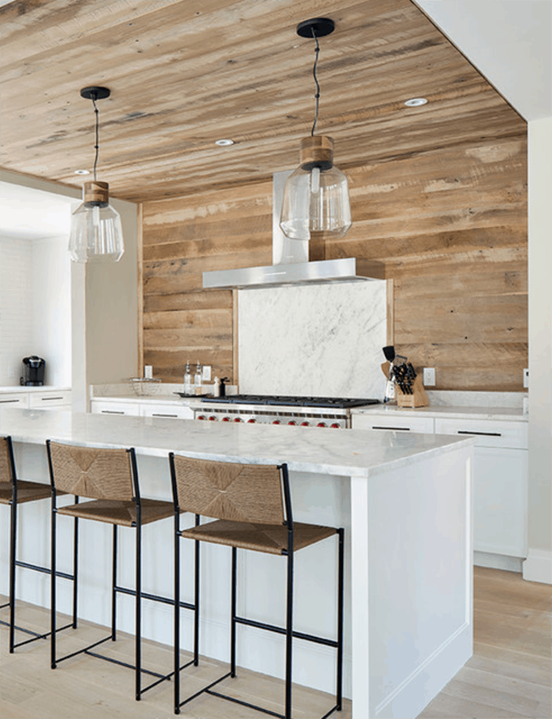 Wood Planked Kitchen Backsplash Mountainmodernlifecom