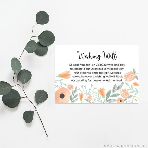 Printable DIY Wishing Well Cards | MountainModernLife.com