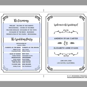 Editable Wedding Program Sample   MountainModernLife.com