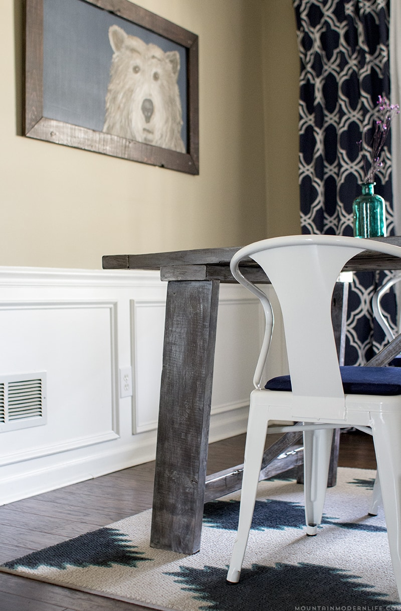 DIY Rustic Farmhouse Style Table | MountainModernLife.com