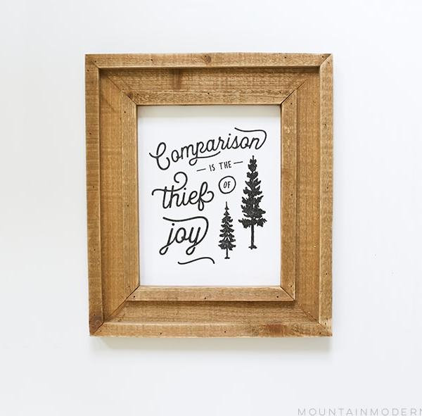 Comparison is the Thief of Joy Printable
