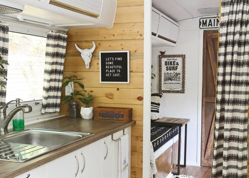 Inside Refurbished Camper