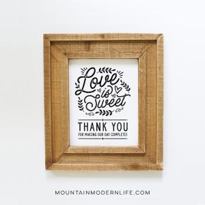 Love is Sweet Printable | MountainModernLife.com