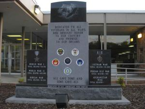 St. Paul's Veterans Memorial, dedicated on Veterans Day in 2009