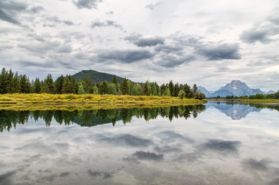 Oxbow Bend in Grand Teton National Park is a popular place for photographs.