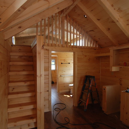 Two Shed Dormers in Loft | Mountain Recreation Log Cabins