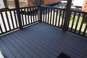 Trex Decking with Cedar Rails