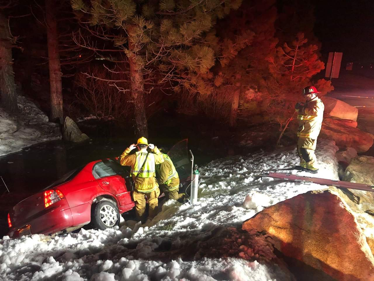 Solo Vehicle Accident Into A Pond Sends Driver To The