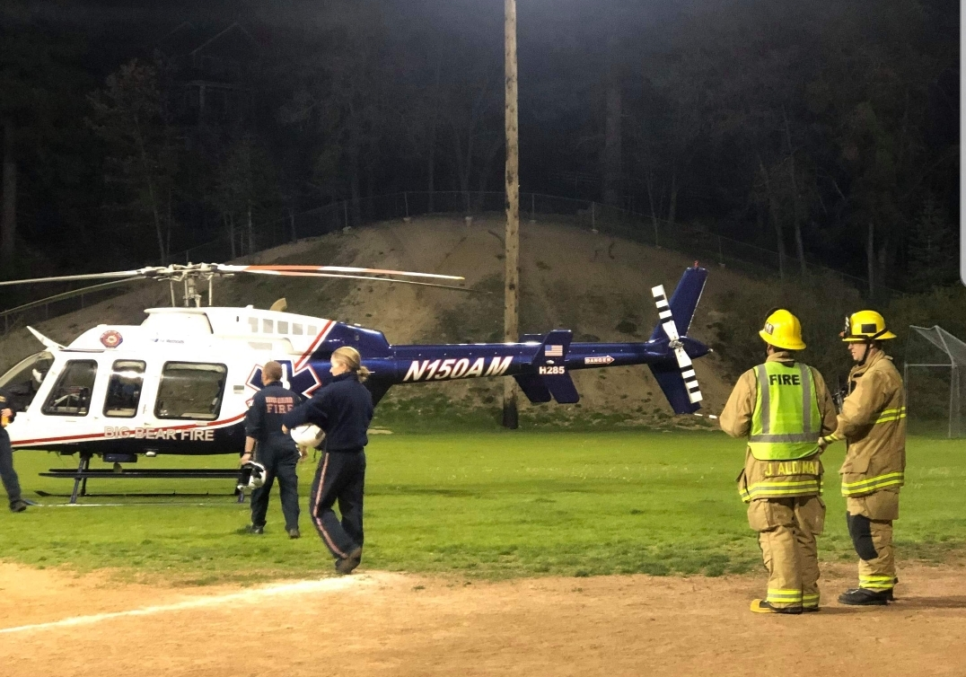 Helicopter Transports Accident Victim from Green Valley Lake