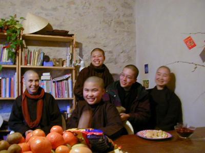 Buddhist Nuns in Plum Village - 2000